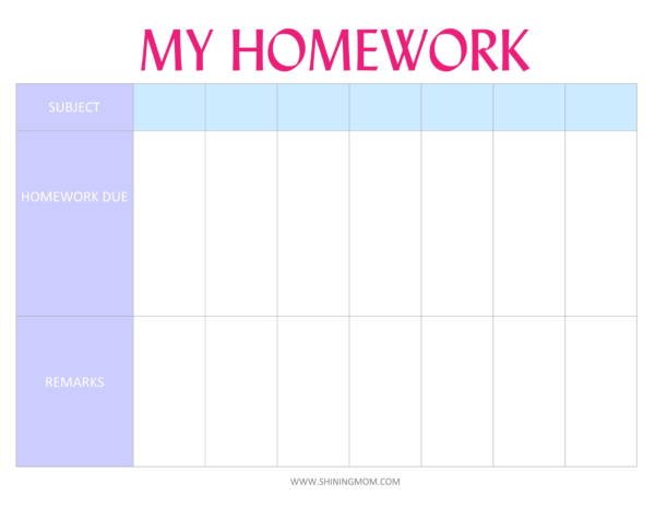 free 9  homework planner samples and templates in pdf