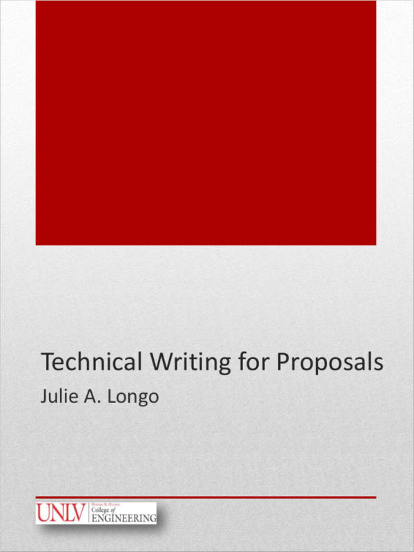 proposal technical writing