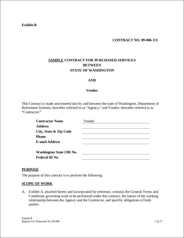sample contract for purchased services