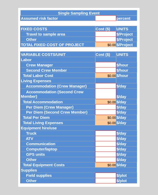 sample plot spreadsheet calculator