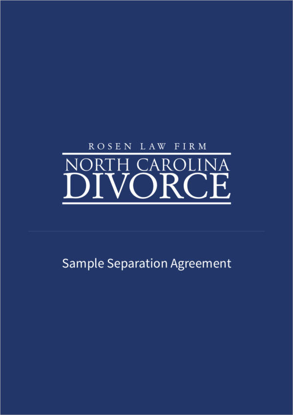 sample separtion agreement1