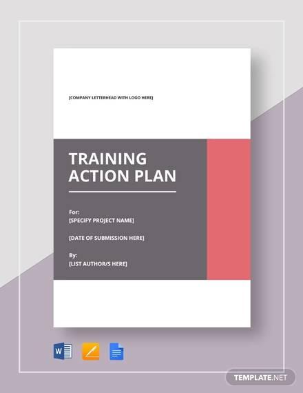 sample training action plan