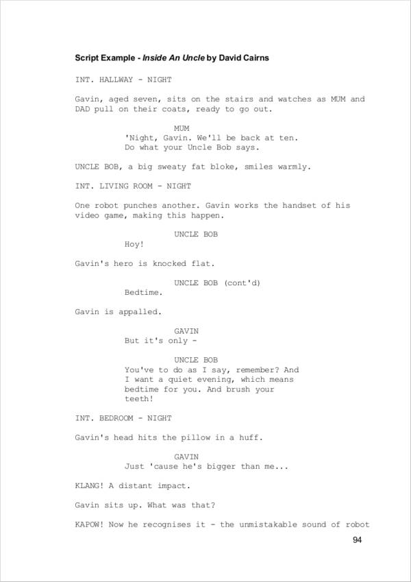 script writing for screen crash course