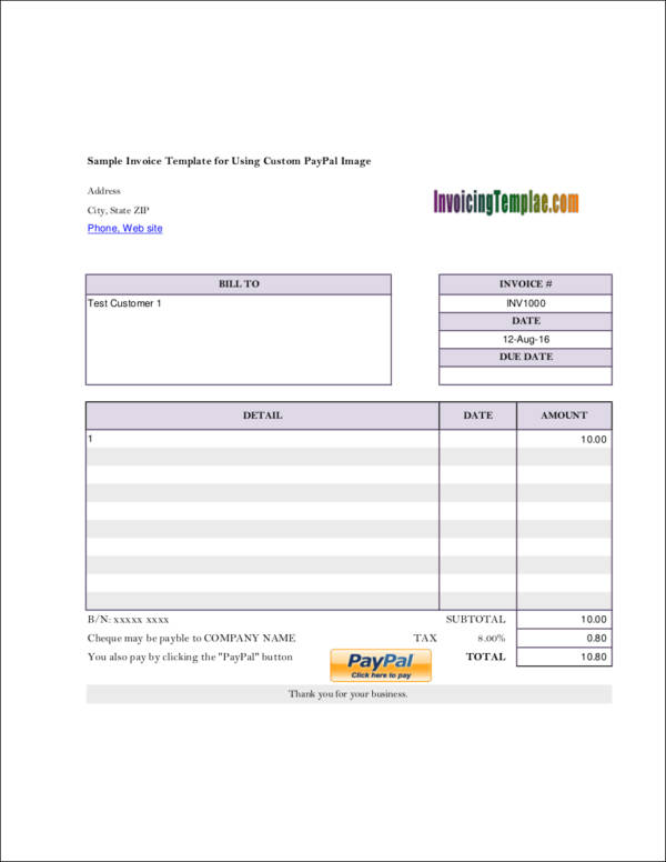 selfemployed invoice template in pdf