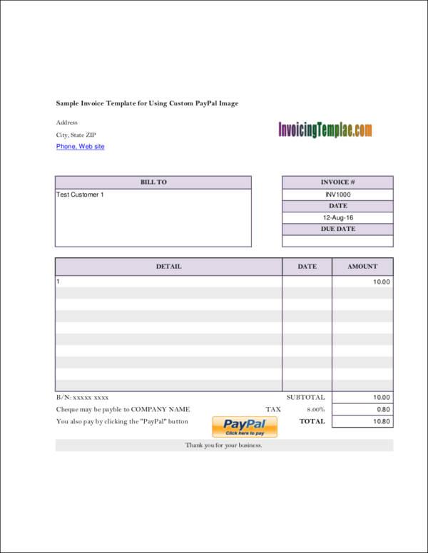 9 self employed invoice samples templates pdf sample templates. Black Bedroom Furniture Sets. Home Design Ideas