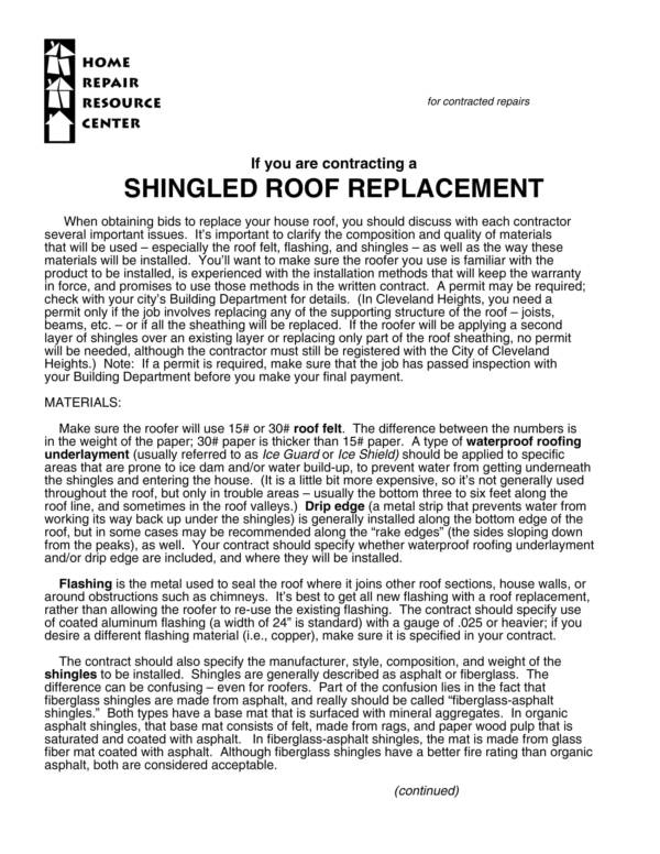 Free 11 Roofing Contract Samples Amp Templates In Pdf Word