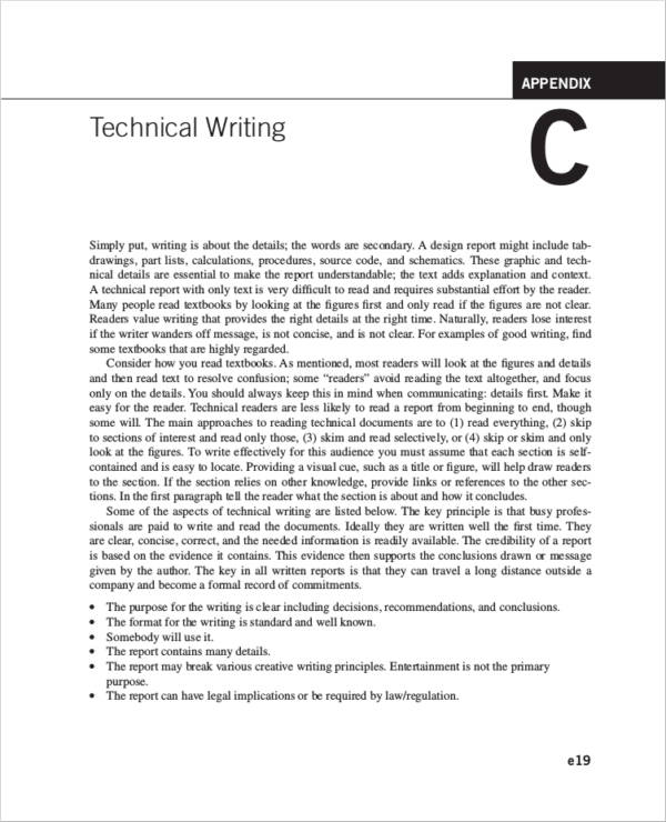 technical writing guideline