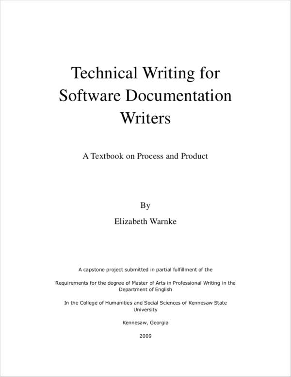 technical writing for software documentation