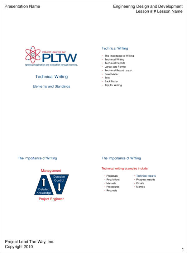 technical writing in pdf