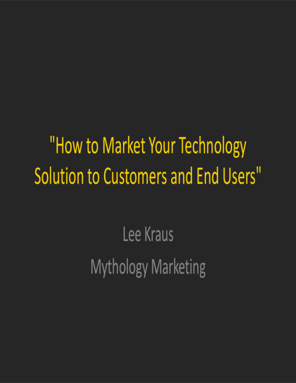 technology solution marketing presentation outline
