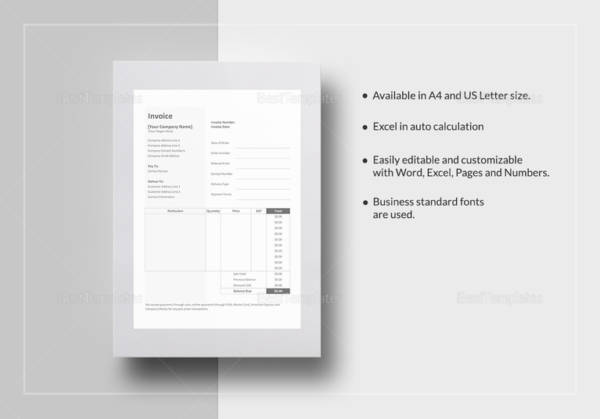 9 Self Employed Invoice Samples Templates Pdf Sample Templates