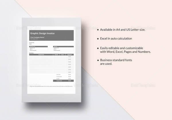 graphic design invoice template 767x536