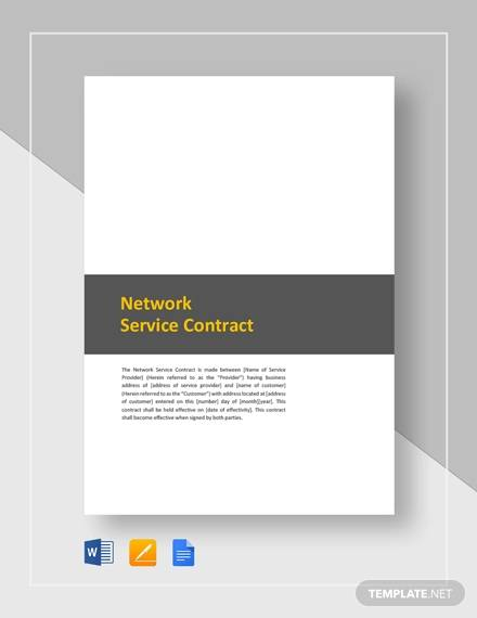 network service contrat
