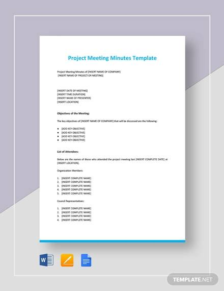 project meeting minutes