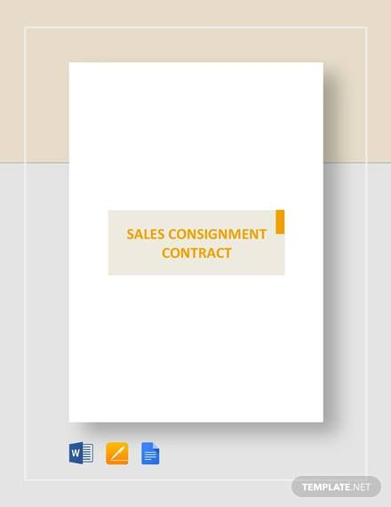 sales consignment