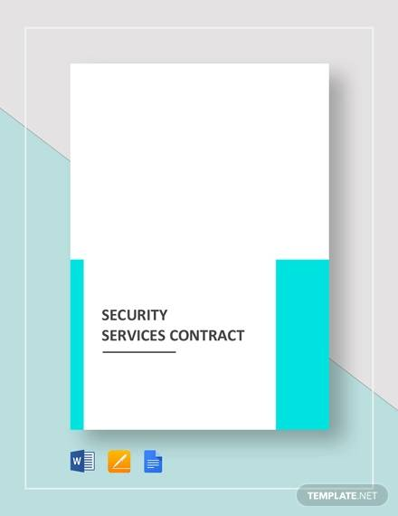 security services contract
