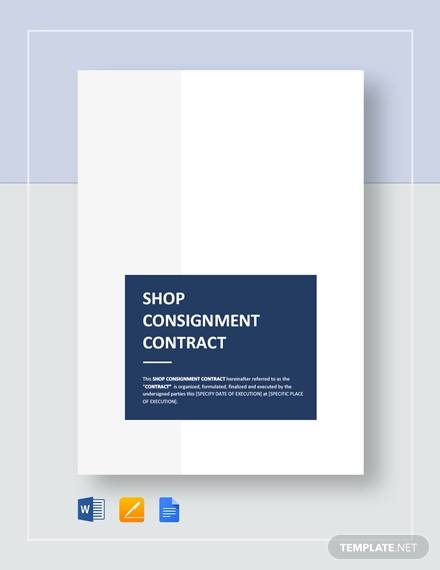 shop consignment contract