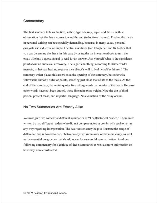 the commentary essay A critical analysis  , in an analysis of the katz commentary, the body would offer  the essay can pose some difficulties for modern readers, who may not be.
