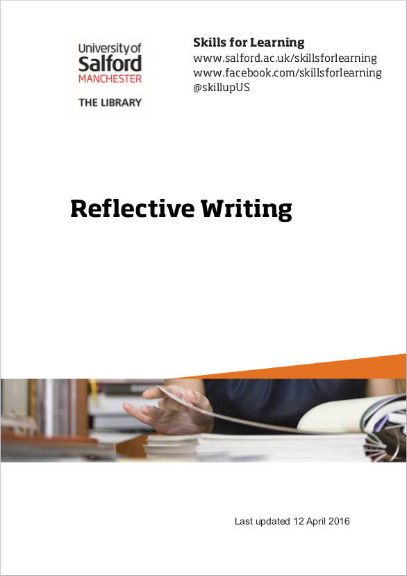 reflective writing sample guide