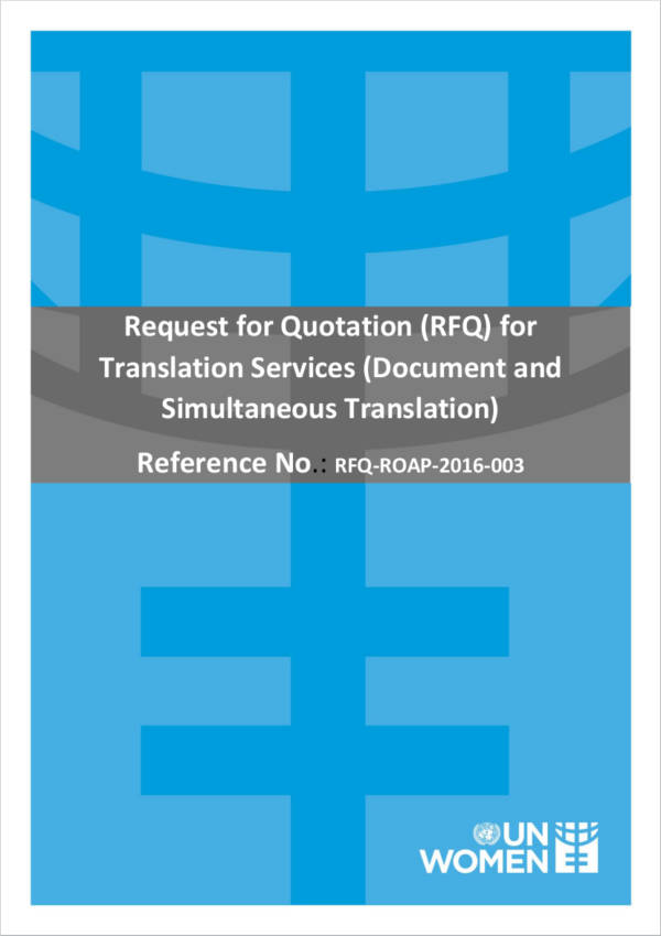 request for quotation for translation services