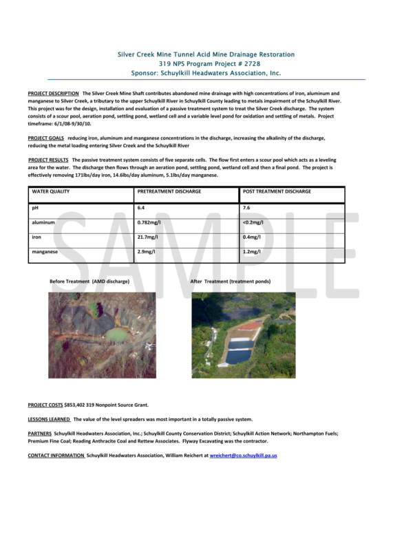 sample one page final report project summary