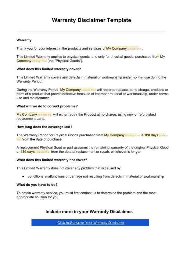 workmanship guarantee template - 9 warranty statement samples templates pdf sample