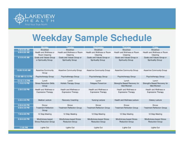 womens group schedule sample