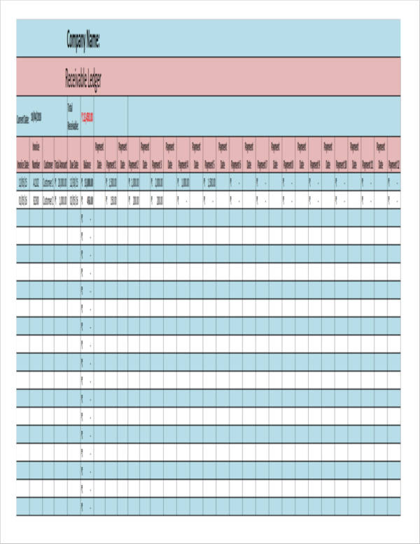 accounts receivable excel template