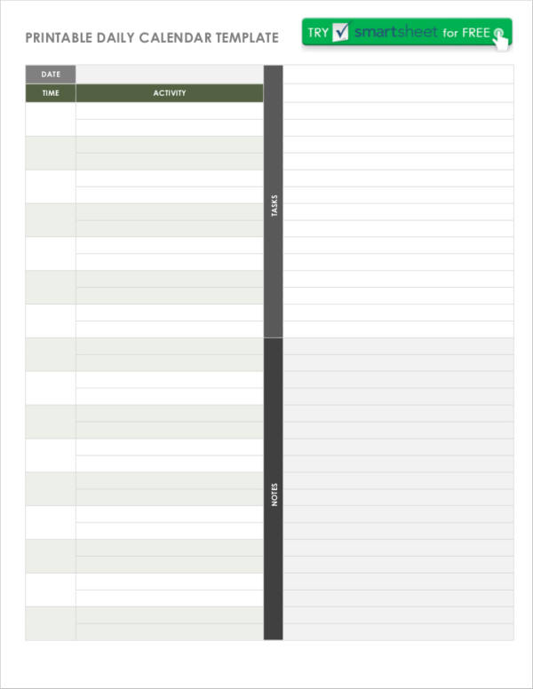 Daily Agenda Samples And Templates  Pdf