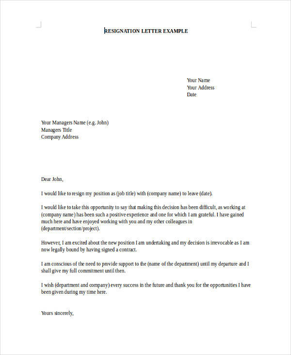 7  board resignation letter samples and templates  u2013 pdf