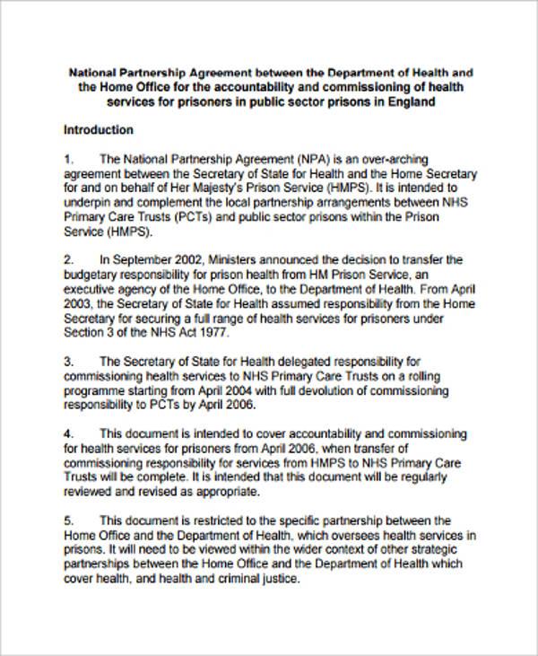 economic partnership agreement sample