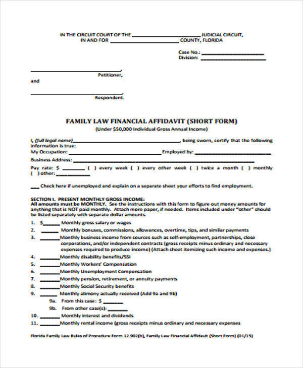 FREE 19+ General Affidavit Samples and Templates | PDF