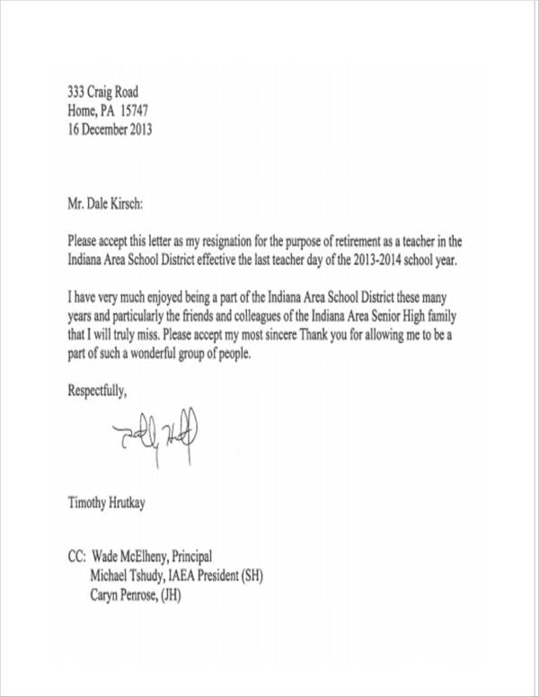 resignation letter format for lecturer pdf 11 resignation letter samples and templates pdf 16085