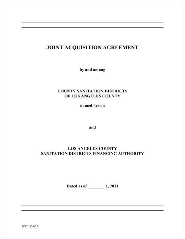 joint acquisition agreement
