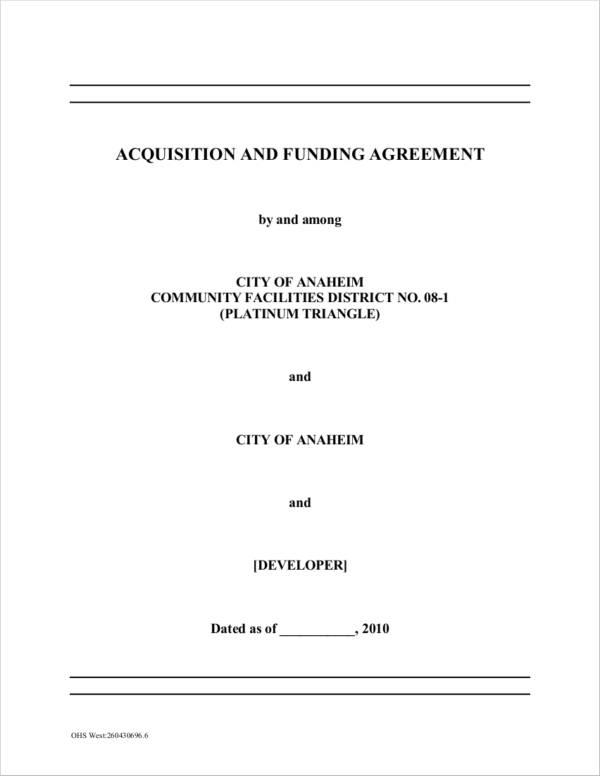 platinum triangle acquisition agreement