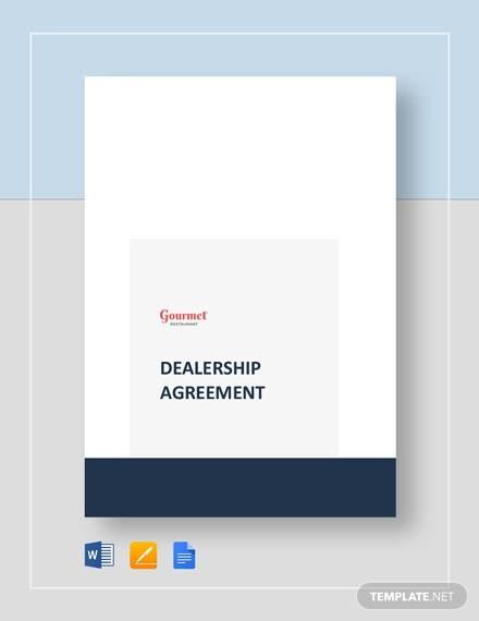 restaurant dealership agreement