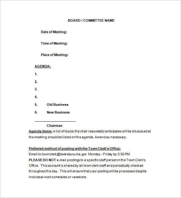 sample meeting notice
