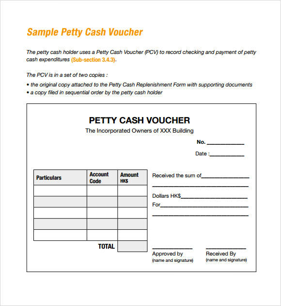 14 petty cash receipt samples templates pdf word excel