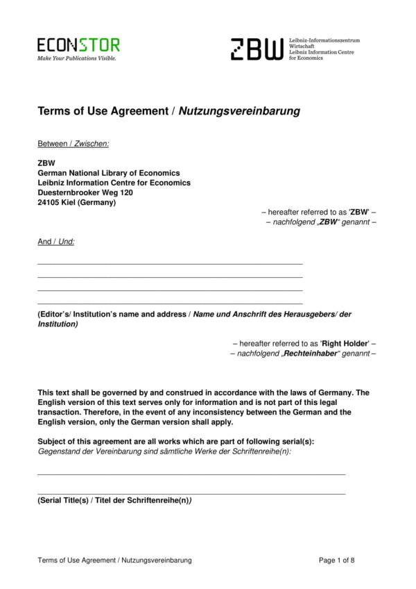 terms of use agreement template 1