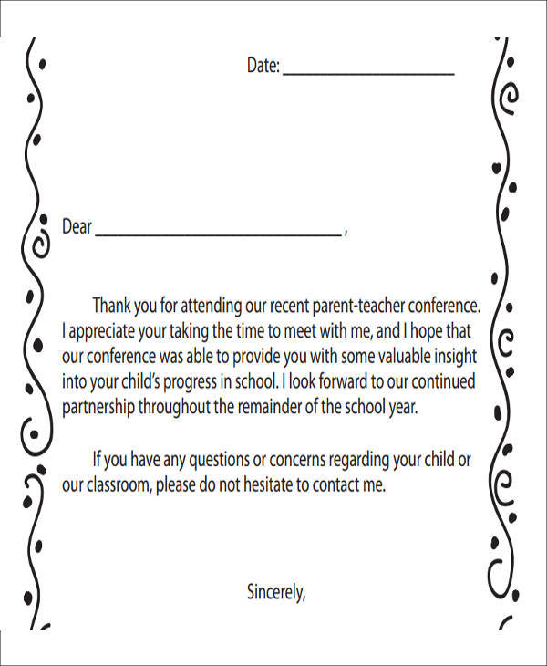 11+ Meeting Thank-You Letter Samples and Templates - PDF, Word
