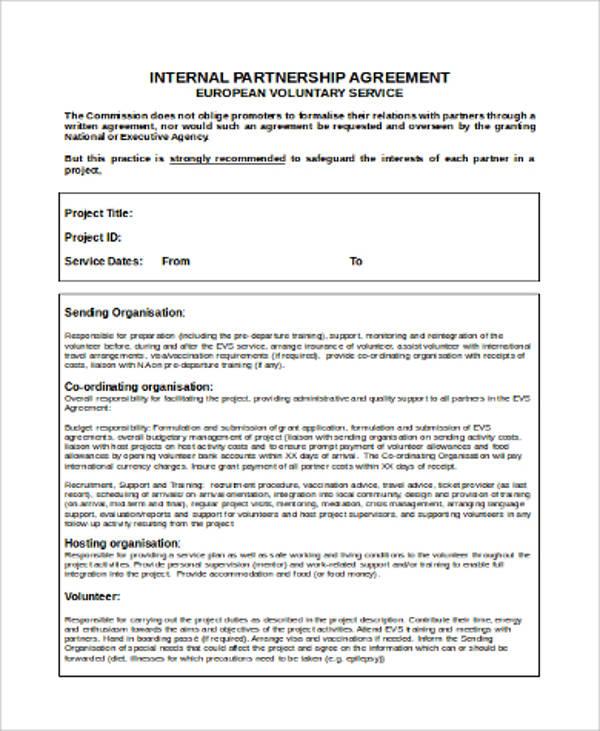 voluntary partnership agreement