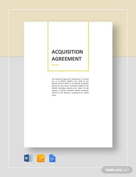 acquisiton agreement