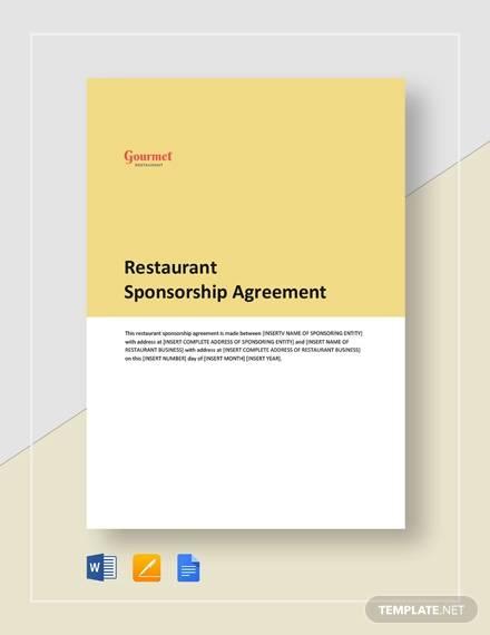 restaurant sponsorship