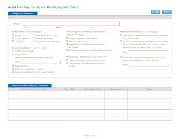 asset inventory worksheet 2