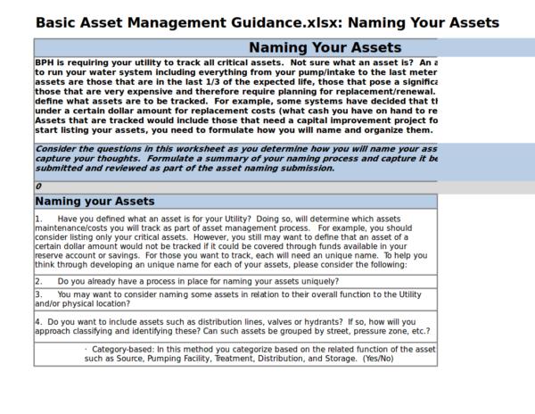 basic asset management guidance