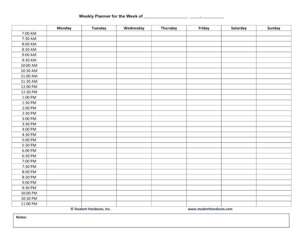 blank weekly hourly worksheet template 1