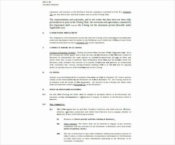 Business Transfer Agreement Images  Agreement Letter Format