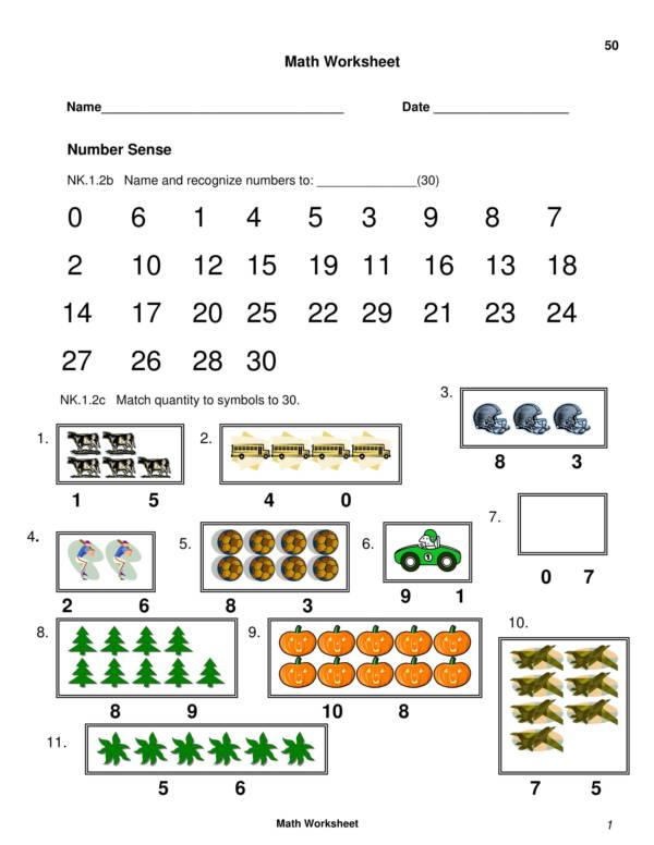 counting worksheet for kindergaten 01