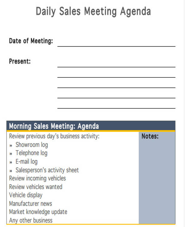 daily sales meeting agenda1