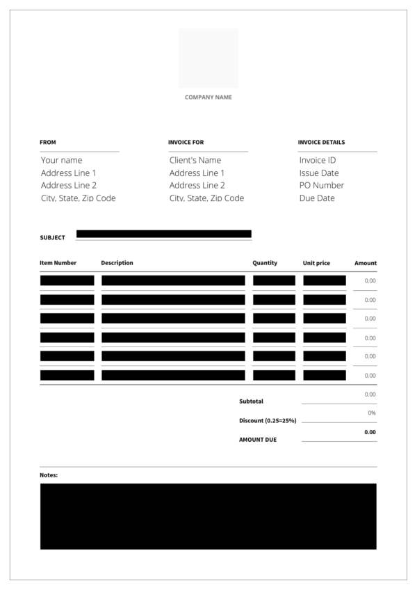 editable cleaning service invoice template 1